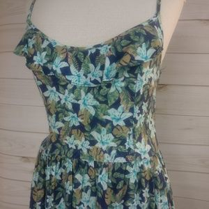 Hollister Floral Adorable Cross Back Dress